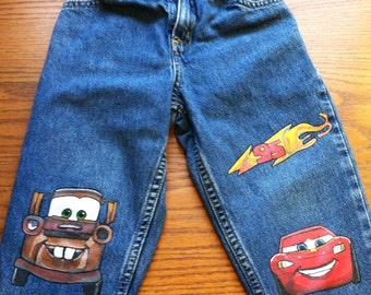 Cars 2 painted jeans