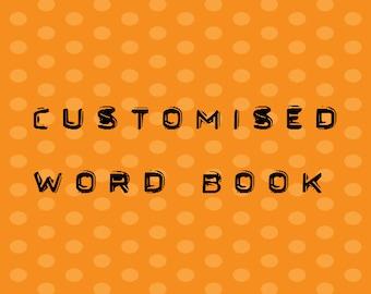 9 Letter Word Album Custom Made Scrapbook Memory Book