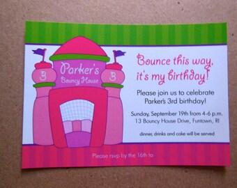 Bouncy House Birthday Party Invitation