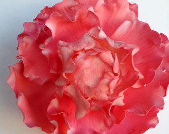 "GUM PASTE FLOWER Peony approx 4 1/2"" - 5"" in diameter"