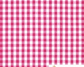 "Fuchsia 1 / 4""  Inch Checkered Gingham Poly Cotton, 60 Inches Wide By The Yard / Roll"