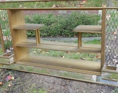 SOLD-Vintage Gold Mirrored Shadowbox Shelf