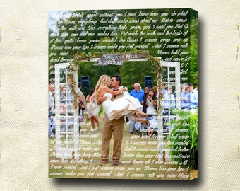 Wedding pictures print Custom wedding pictures Personalized wedding pictures Wedding photo portrait Photo and words Picture and text