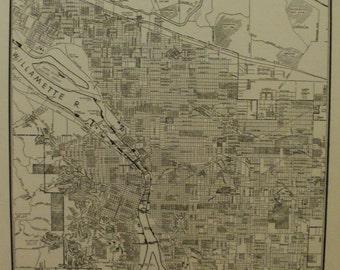 Portland Map Portland City Map Portland Oregon City Map Usa City Map