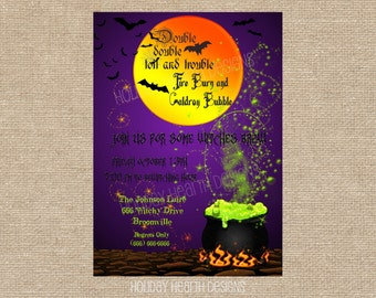 halloween invitation, halloween digital invite, halloween formal party invitation, halloween party invite - Digital File - DIY PRINTABLE