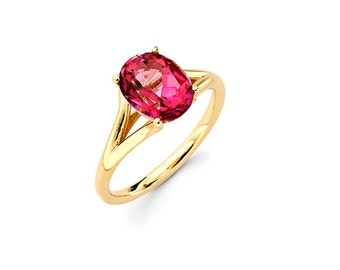 14K Yellow Gold Pink Topaz Ring, Yellow Gold Ring, Promise Ring, Fancy Ring, Elegant Ring, Fashion