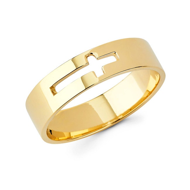 cross ring religious religious jewelry cross jewelry gold