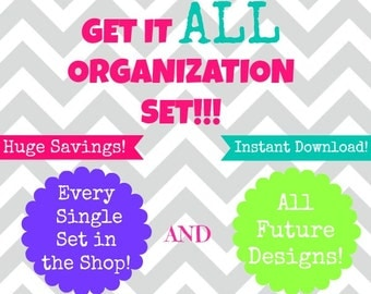 INSTANT DOWNLOAD- Home Organization- Get It All- Every Kit,Set , Printable and All Future Printables in Shop