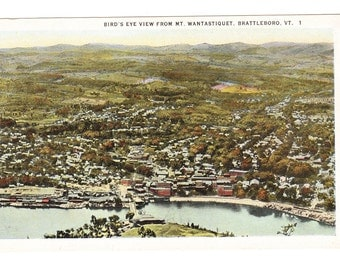 Brattleboro Vermont Vintage Postcard (unused)