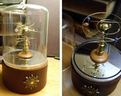 Exquisite Handcrafted Miniature Solar System, Planetarium, Orrery with Embellished Automatic Turntable Display Dome