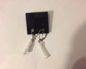 Pearl Glass Beads Dangle Earrings