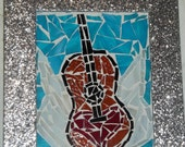 Items similar to Stained Glass Mosaic Winged Guitar with ... - photo#32