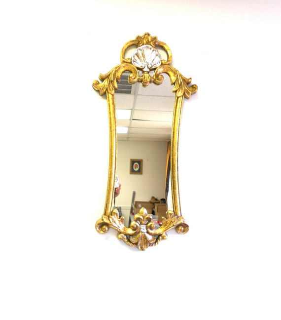 32x15wall mirror decorativelarge wall narrow by goldleafgirl for Narrow wall mirror decorative