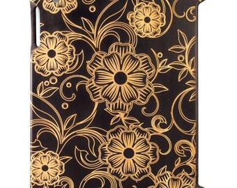 Charred Bamboo iPad 2,3,4 case, Flowers & Vine design UK