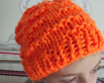 for KONINGSDAG!!! : neon Orange hat with ripples.