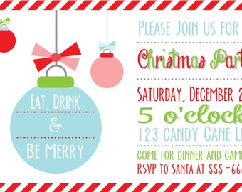 Ornament Christmas Party Invitation