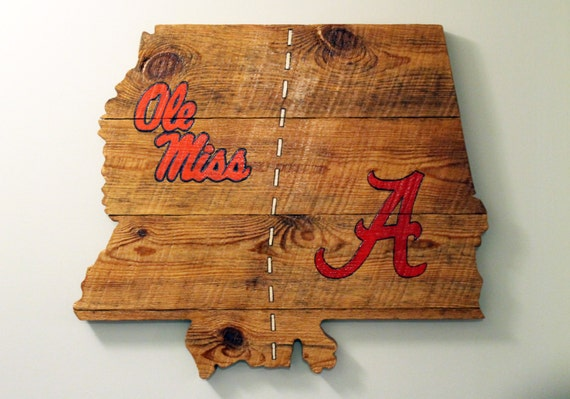 Handmade School House Divided State Sign
