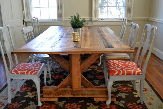 Items similar to reclaimed barnwood dining room table on etsy for Dining room tables etsy