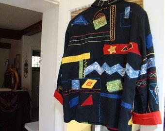 Rainbow Coat of Protection Jacket Sacred Geometry