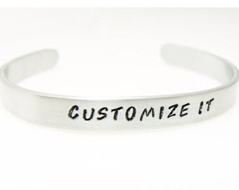 Totally Customizable Stamped Bracelet