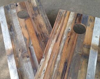 Cornhole Game by ColoradoJoes Reclaimed (Repurposed) Wood