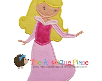 SLeePiNG BeauTy Applique Design , Instant Digital Download File for Machine Embroidery , 4X4 5X7 6X10 - Pretty Princess 2