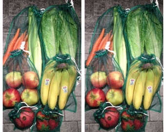 12 Produce Bags, Eco Friendly, Reused, Shopping Bag, Fruits and Vegetables