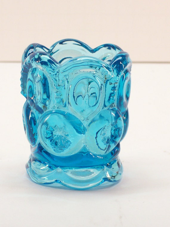 Le smith blue glass toothpick holder in the by garagesaleglass - Toothpick holder for purse ...