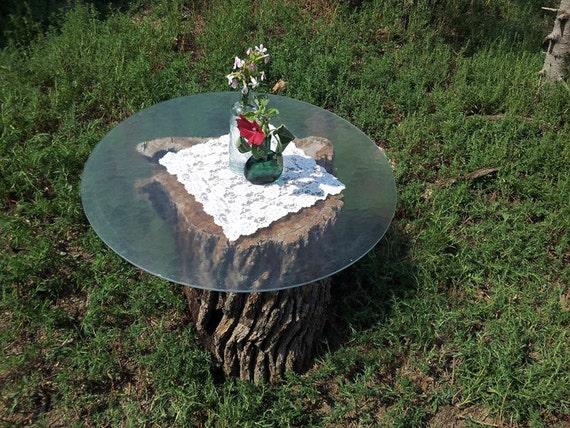Old tree stump table