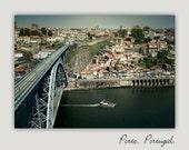 Boat on the river from Porto, Portugal (Oporto). Europe.Oporto Fine art photography.Home Decor.Portugal.Etsy Wall Art. Vila Nova de Gaia