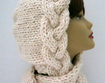Knitting Pattern Hat, Braid Bonnet