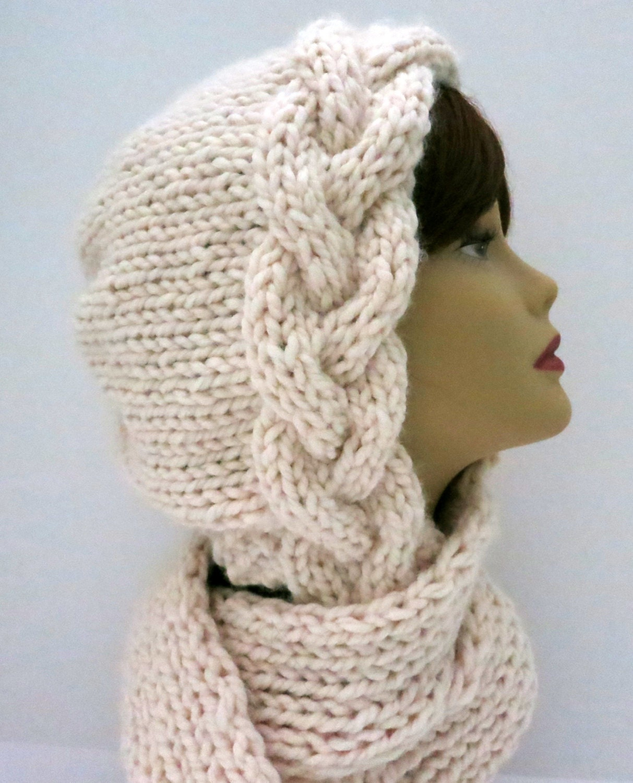 Knitted Dog Jumper Pattern : Knitting Pattern Hat Braid Bonnet