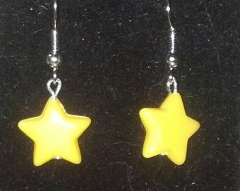 Yellow Star Dangles