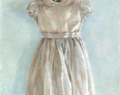 "Jennifer Berry Fine Art ""Vintage Girl's Dress"" 10x8"" oil painting on canvas"