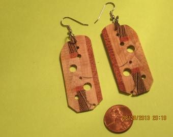 Laminated wood earrings