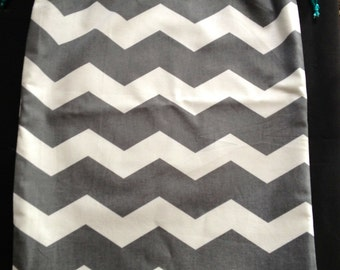 Reversible Chevron Shoe Bag