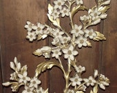 Gold Syroco Floral Wall Plaque 1960s