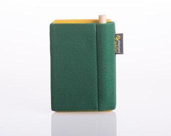 Green wallet, credit card holder, men's wallet, wome's wallet, elastic wallet, slim an dminimalist, modern design wallet, P wallet