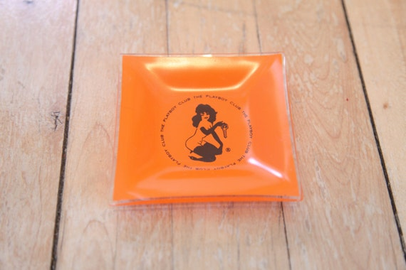 Vintage 1960s Glass Playboy Club Ashtray