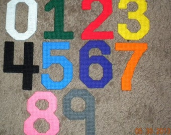 Learning Numbers Plastic Canvas Pattern