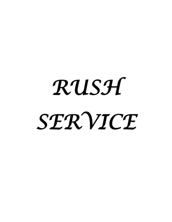 Rush Service   Next Day Delivery