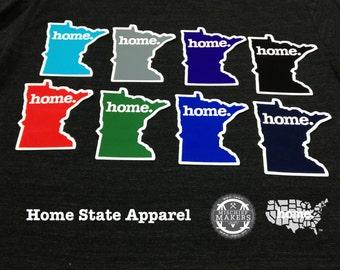 Minnesota Home. Colored Vinyl Sticker