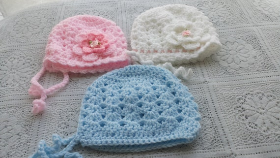 PDF baby shell bonnet crochet pattern