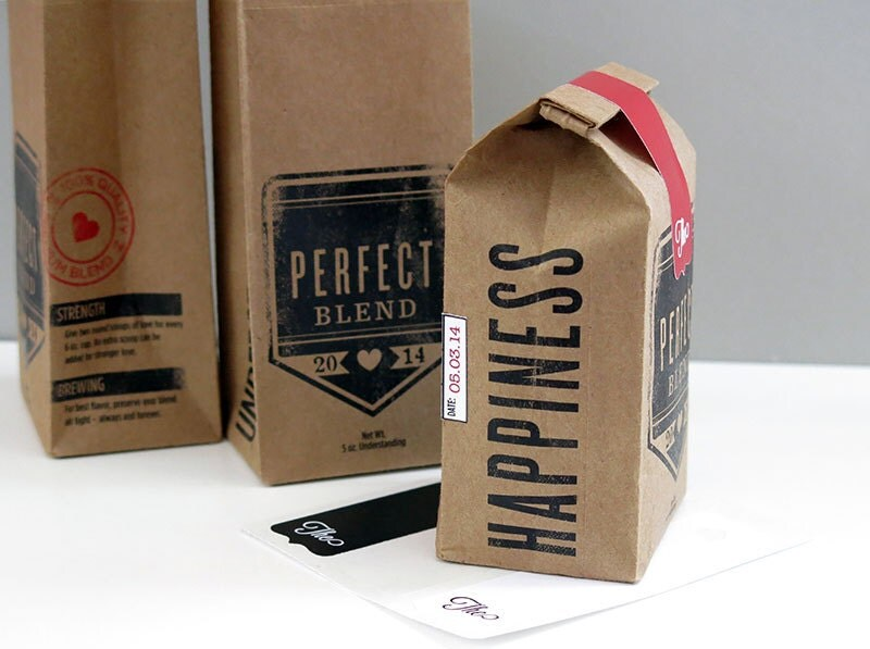 tin tie coffee bag gift set of 3 with custom by turtleandpig