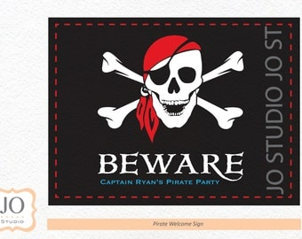 Pirate Themed Welcome Sign / Pirate Party