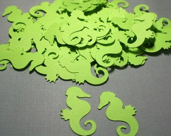 Lime green, or color of your choice Seahorse Confetti 100 pieces