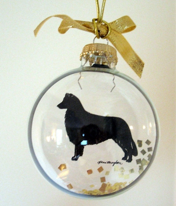 Etsy Dog Gift Baskets : Items similar to border collie ornament dog gifts for