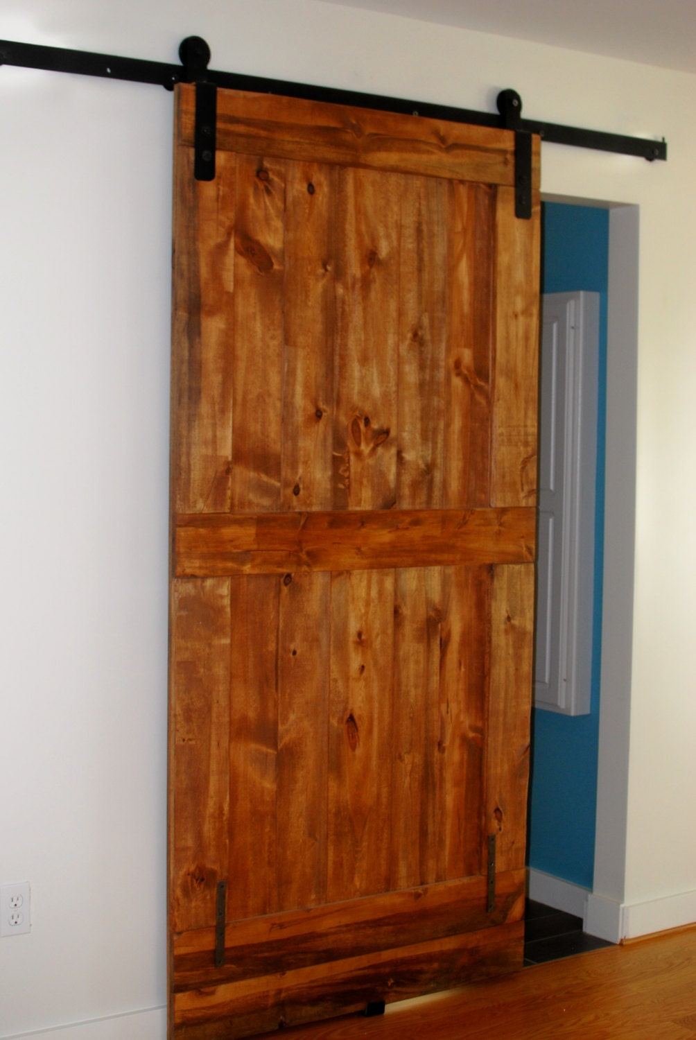 Sliding barn door hardware kits made from your dimensions any for Custom barn door kits