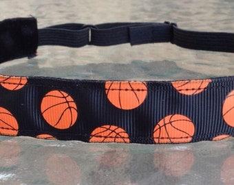 Black Basketball Headband sports headbands black non slip headband adjustable size