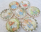 CIRCLE PETER RABBIT edible images for cookie deocration (wafer/rice paper)